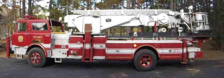 1979 Mack Tractor Truck : Mack aerialscope emergency fire trucks