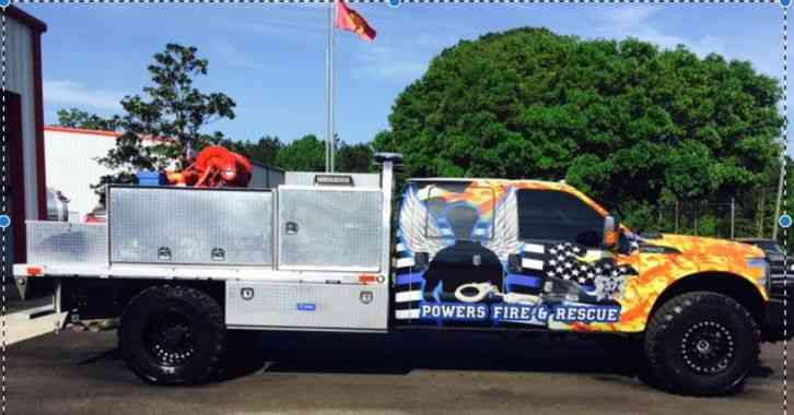 Ford Fire Rescue Brush Truck Ford F554 Extreme 4x4 2016
