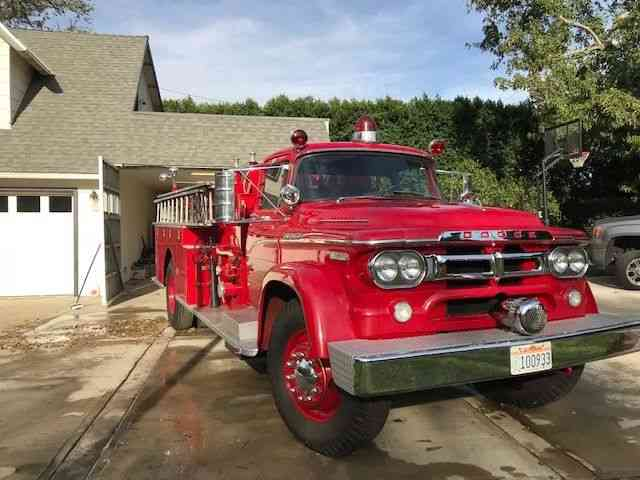Dodge fire truck with a Van Pelt body (1959)