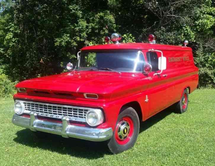 Chevrolet Carryall Panel Truck (1963) : Emergency & Fire Trucks