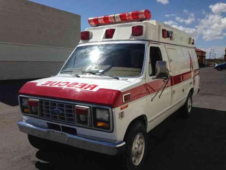 Ford E350 Econoline Van Ambulance (Hightop) (1991 ...