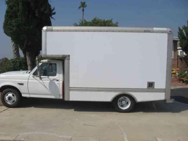 ford f  box trucks
