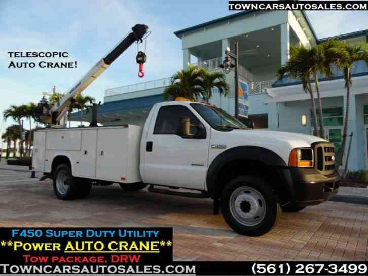 Ford F-450 Crane Lift service truck Utility (2007)