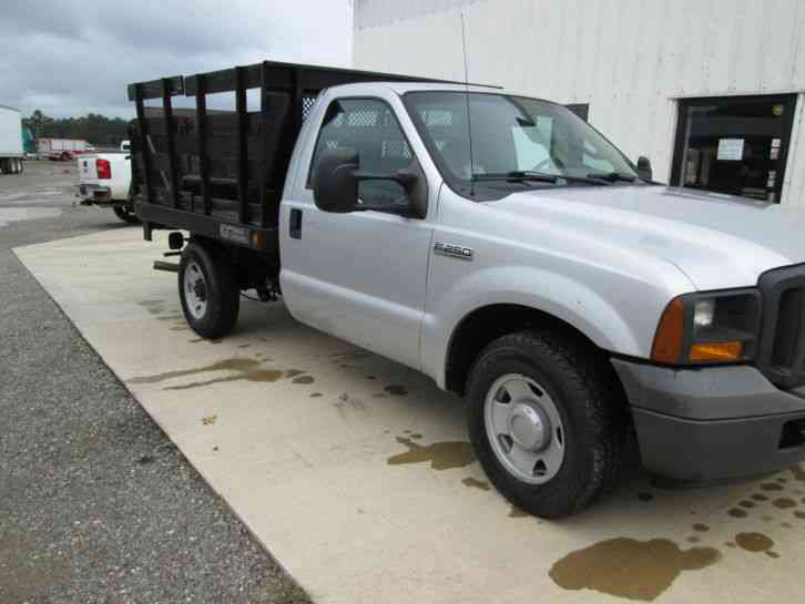 Ford F Stake Bed With Lift Gate Low Miles Nice Flat Bed