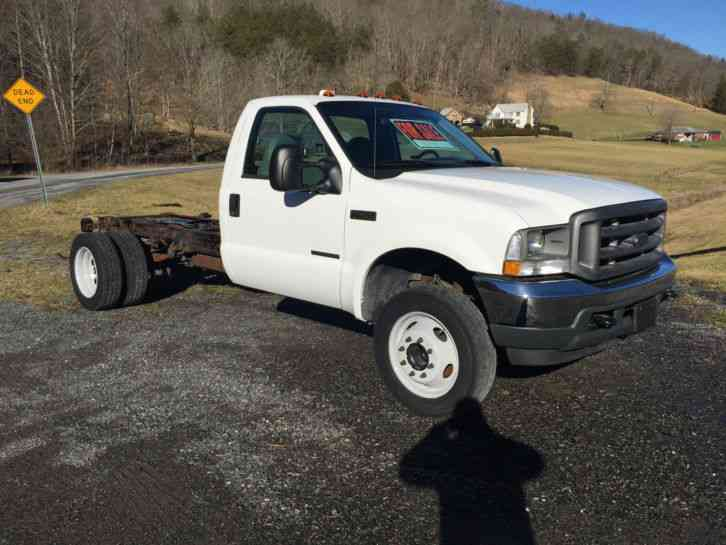 1c5fc6bbf0 Ford F450 7. 3L Turbo Diesel Low Mileage Cab   Chassis (2002 ...