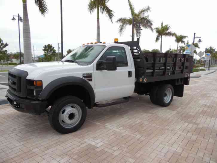Ford Flatbed Truck F450 Stake Truck Flat Bed 2008
