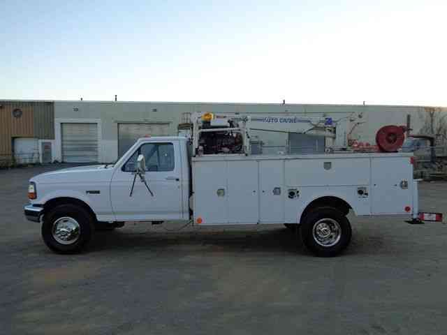 Ford Powerstroke For Sale >> Ford F450 SERVICE MECHANICS CRANE TRUCK 7. 3L DIESEL (1995) : Utility / Service Trucks