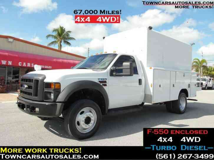 Ford F550 4x4 ENCLOSED UTILITY TRUCK 4WD (2009)