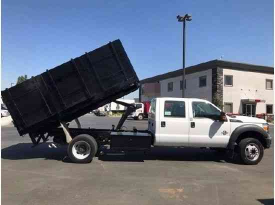 Ford F550 Crew Cab 12ft Dump Truck Diesel 58k miles 19, 500# GVWR (2012)