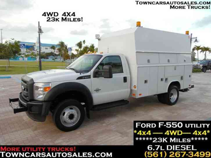 FORD F550 ENCLOSED KUV UTILITY TRUCK 4X4 (2012)