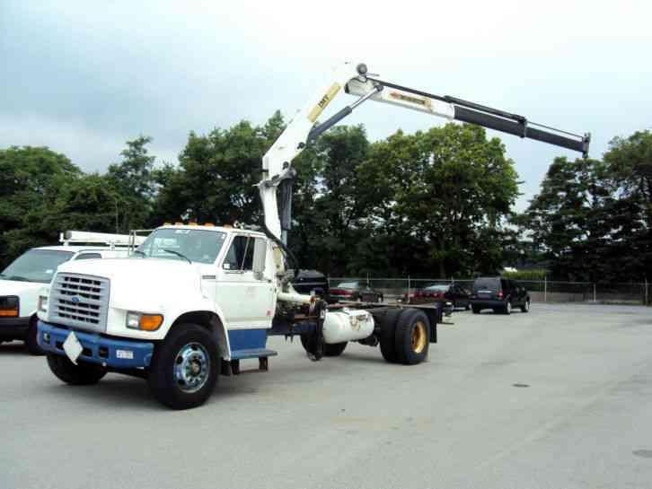 Ford F700 Boom Crane Truck Propane Ed 10 5 76 Articualting
