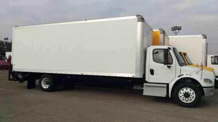 Freightliner M2 26ft Box Truck Hi Cube Al Lift 33 000 Gvwr 2014 Van Box Trucks