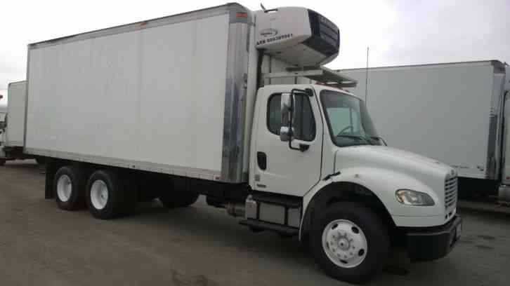 Freightliner m2 reefer box truck cummins 260hp allison for 4 box auto in tandem