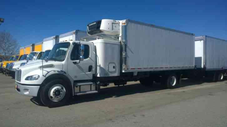 Freightliner Trucks For Sale >> Freightliner M2 sleeper truck-UNDER CDL 26K gvwr - 22FT REEFER BOX LIFTGATE CARRIER SUPRA 950 ...