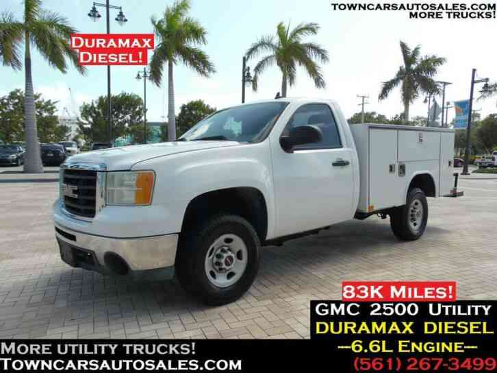 Duramax Diesel For Sale >> Gmc 2500 Utility Truck Duramax Diesel 83k Miles 2009