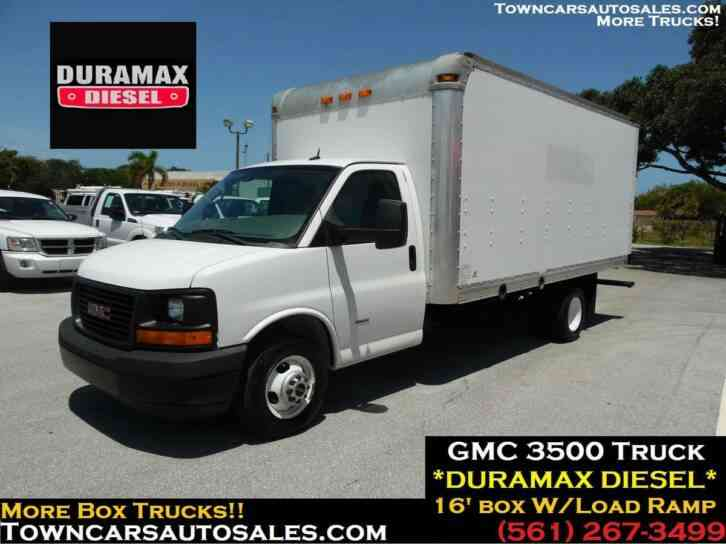 Duramax Diesel For Sale >> Gmc 3500 Cutaway Box Truck Duramax Diesel 2013 Van Box
