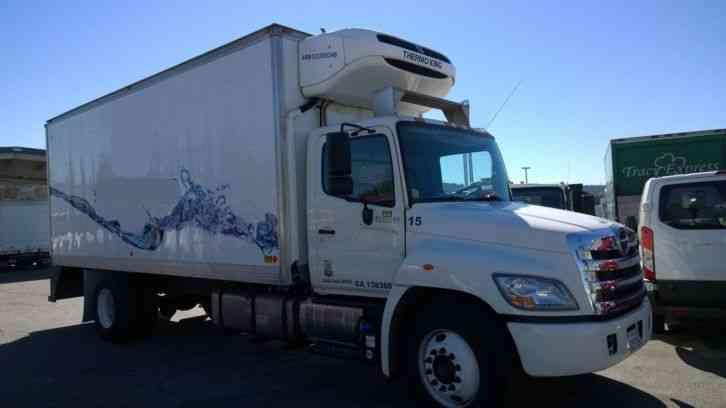 Hino 268 Refrigerated Box Truck Thermoking T800 R 8l 6cyl 220hp Motor Auto 26 000 Gvwr Cdl