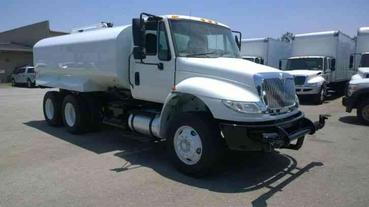 INTERNATIONAL water tank truck NEW tank 4000gal - 52, 000# gvwr CARB OK (2012)