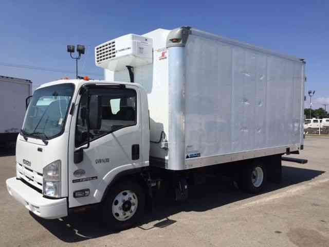 Isuzu NPR HD 14ft Refrigerated Truck Only 50k mi Thermoking V520 with  electric standby (2015)