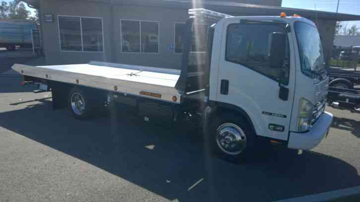 ISUZU NRR 21FT ROLLBACK ALUM JERRDAN BED 102  -WITHOUT WHEELIFT + 2YR/60K MILES SERVICES (2017)
