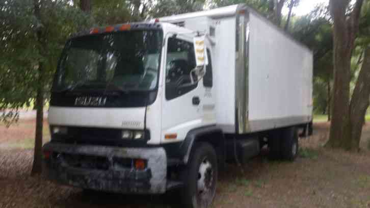 Isuzu Refrigerated Box Truck Diesel New Lift Gate Low Miles on 2002 Isuzu Npr Transmission Fluid