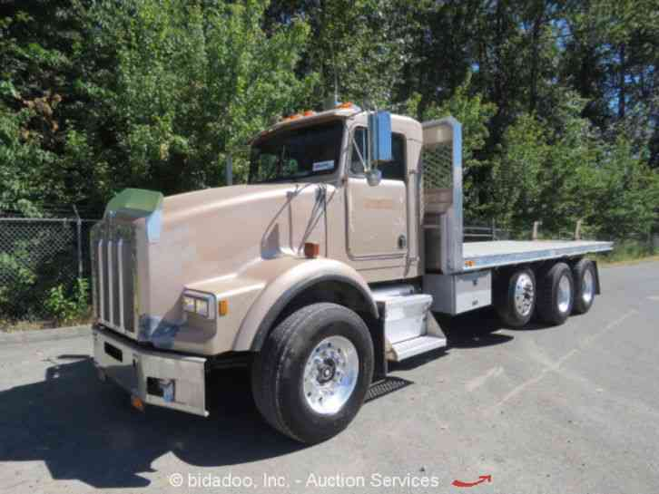 With Drop Axle Semi : Kenworth t daycab semi trucks