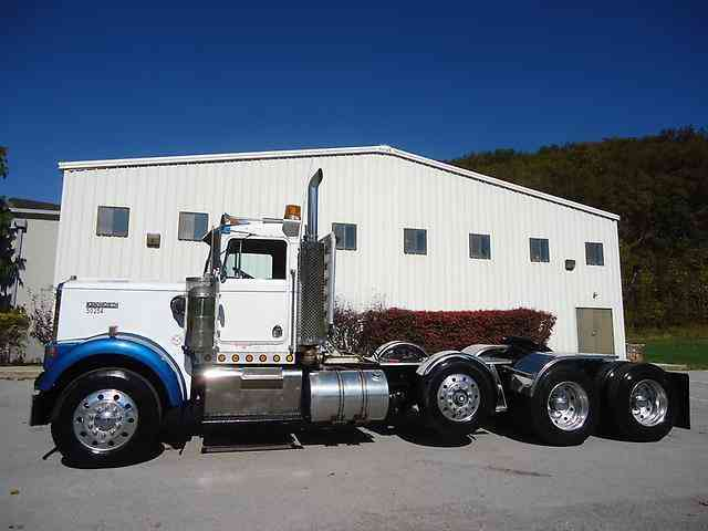 Kenworth W Tri Axle Daycab Lowboy Tractor Cummins Speed Wetline   Pagespeed Ce Cuuu Ch I on kenworth air suspension dump valve
