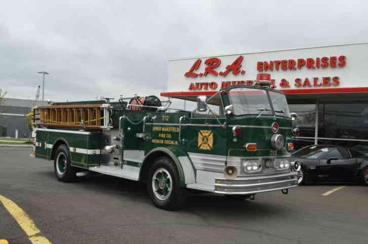 Mack C Model Trucks : Mack c emergency fire trucks