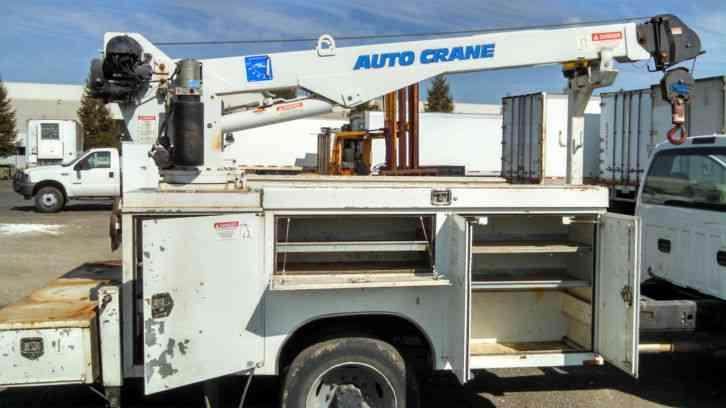 Mechanics Truck Service Body With 5 000 Lb Autocrane