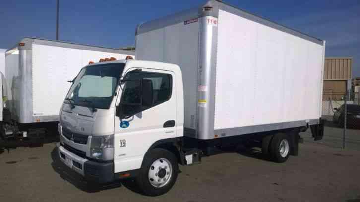 mitsubishi canter fuso box truck 14ft 16ft 20ft liftgate 4-nice clean units  -16k lbs gvwr diesel (2012) : van / box trucks