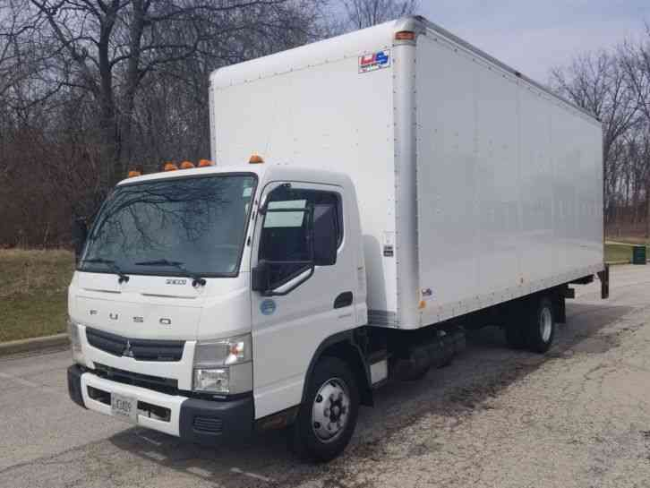 Mitsubishi Diesel Auto 55K Miles Canter FE180 22ft Box Lift Delivery (2014)