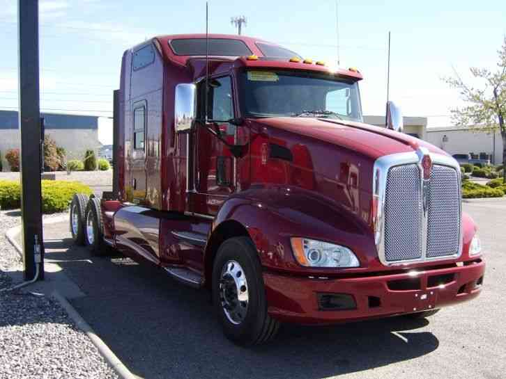 New 2016 Kenworth T660 31166 on red semi truck