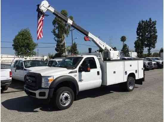 Crane Truck For Sale >> Ford F550 Crane Truck 7500lbs Mechanics Service Utility With
