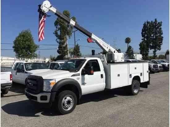 Crane Truck For Sale >> Ford F550 Crane Truck 7500lbs Mechanics Service Utility With Compressor 2015
