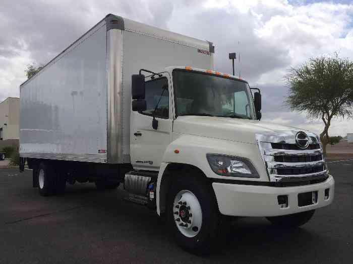 Hino 268a 26ft Box Truck Air Ride Auto Tuk Under Liftgate Under Cdl 26 000 Gvwr 2014 Van Box Trucks