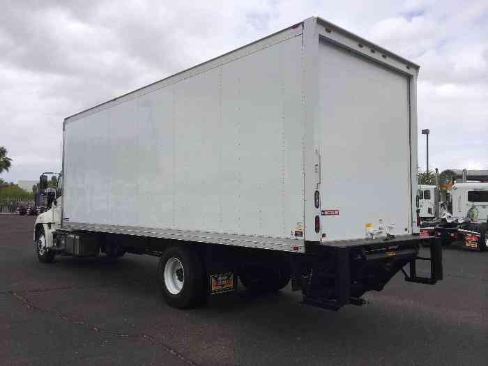 hino 268a 26ft box truck air ride auto tuk under liftgate under cdl 26 000 gvwr 2014. Black Bedroom Furniture Sets. Home Design Ideas