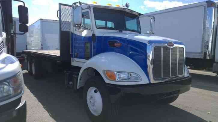 Flatbed Truck For Sale >> Peterbilt 340 24ft Flatbed Truck 3 Axle 50 000 Gvwr Px8