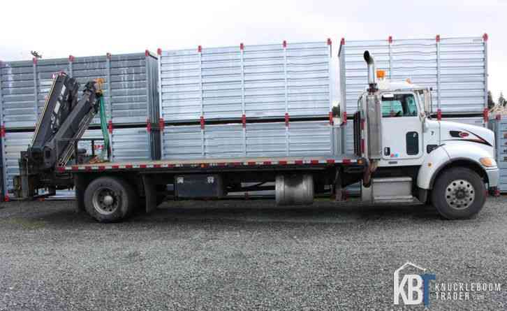 Peterbilt 340 Single Axle Truck w/ Hiab XS 166 E4 Knuckle Boom Crane -  Palfinger