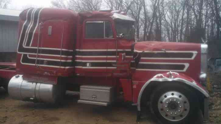 Peterbilt 359 Exhd 1980 Sleeper Semi Trucks