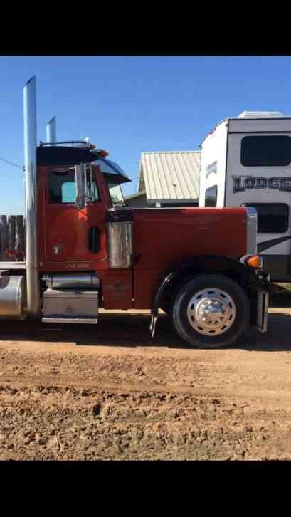 Semi Truck Hoods : Peterbilt long hood daycab semi trucks