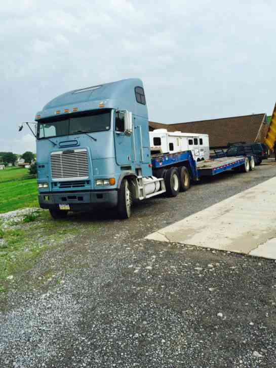 freightliner cabover 1996 sleeper semi trucks