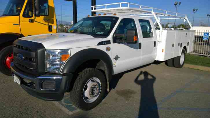 Ford F550 Crew Cab Truck 4x4 Service Utility Bed 11ft