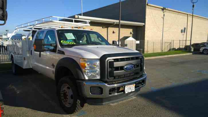 Ford F 550 For Sale >> Ford f550 CREW CAB TRUCK -4x4--SERVICE UTILITY BED 11ft --Can be removed, and put a 5th wheel or ...