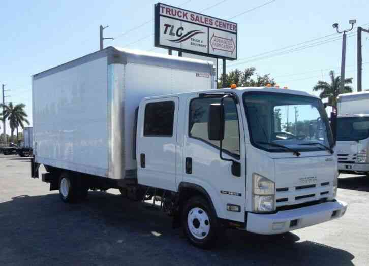 Isuzu NPR GAS. . 14FT DRY BOX. TRUCK UNDER LIFTGATE BOX TRUCK (2015)