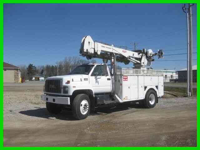 GMC C8500 3126 CAT ALLISON WITH TEREX TELECTRIC '''RED DEVIL'''' MANHOLE CABLE PULLER (1999)