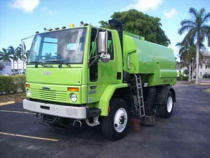Truck mounted vacuum road sweeper - YouTube