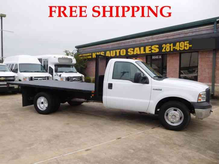 FORD F-350 XL SUPER DUTY FLATBED TRUCK LONG BED 6. 0L (2007)