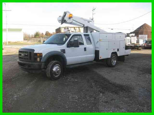 FORD F450 'EXTENDED CAB' 6. 8L AUTO AC WITH 40' REACH 'ETI' BUCKET/BOOM (2008)