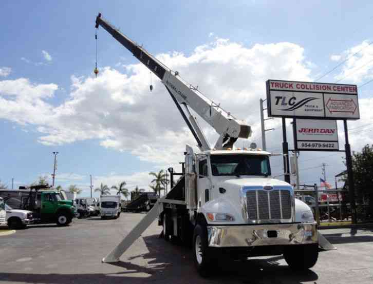 Peterbilt 340 60FT MAX BOOM WITH 40K LIFT. NATIONAL 649E2 CRANE (2008)