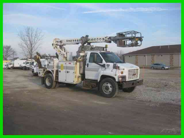 GMC C8500 7. 8L ISUZU, ALLISON, WITH ALTEC A-T40C CABLE PLACER (2009)